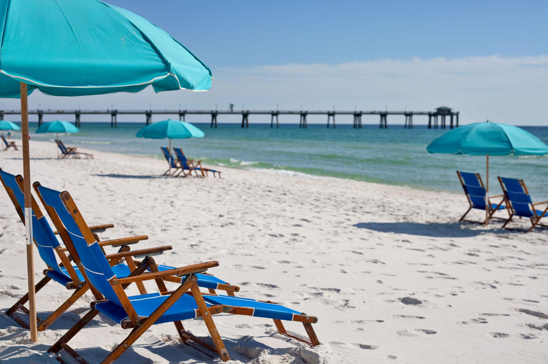 Lazy Days Beach Rentals Beach chairs and umbrellas rentals in a